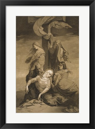 Framed Lamentation at the Foot of the Cross Print