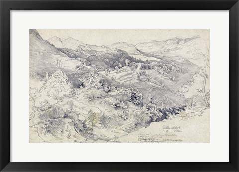 Framed View from Civitella Print