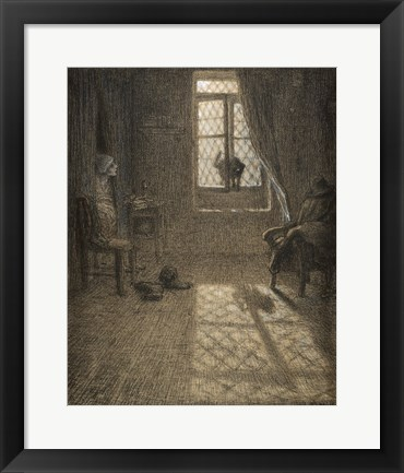 Framed Le chat The Cat at the Window Print
