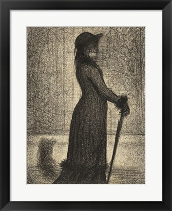 Framed Woman Strolling Print