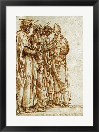 Framed Study of Four Saints Print