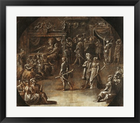 Framed Marriage of a Patrician Couple Print