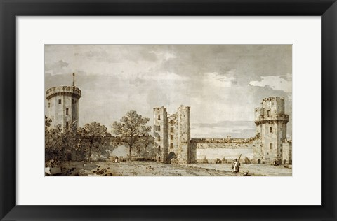 Framed Warwick Castle: The East Front from the Courtyard Print