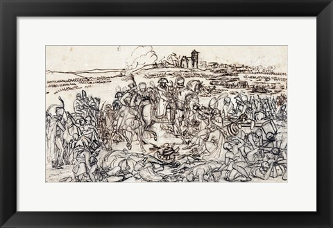 Framed Napoleon at the Battlefield of Eylau Print