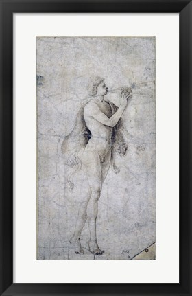 Framed Satyr Playing an Aulos Print