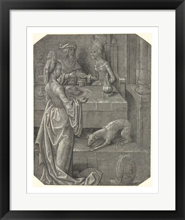Framed Salome with the Head of John the Baptist Print