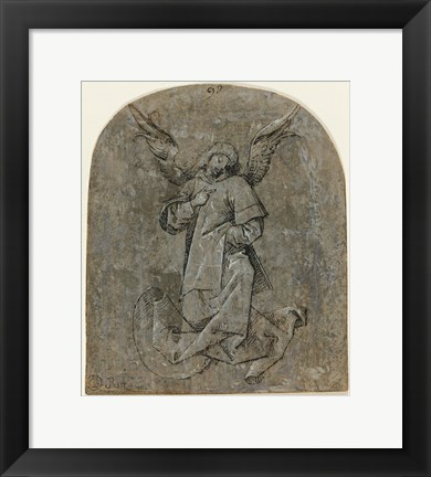 Framed Study of an Angel Print