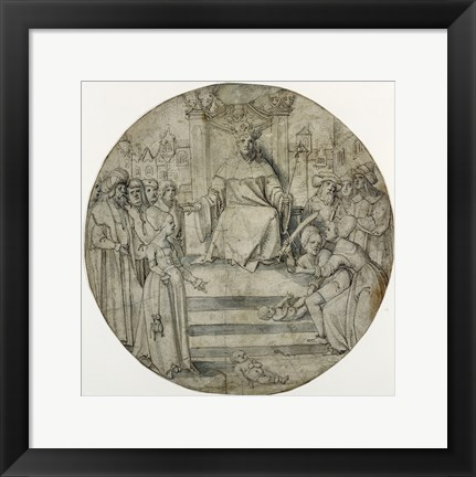 Framed Judgment of Solomon Print