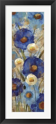 Framed Sunkissed Blue and White Flowers II Print