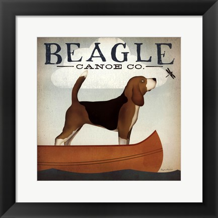 Framed Beagle Canoe Co Print