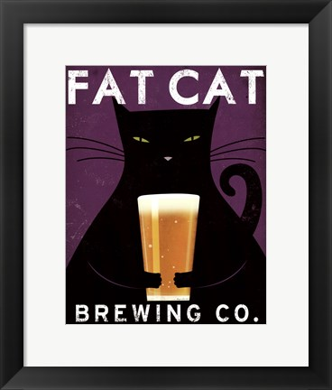 Framed Cat Brewing no City Print
