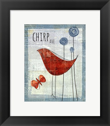Framed Chirp Ave Print