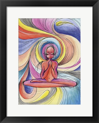 Framed Yoga Burst Print