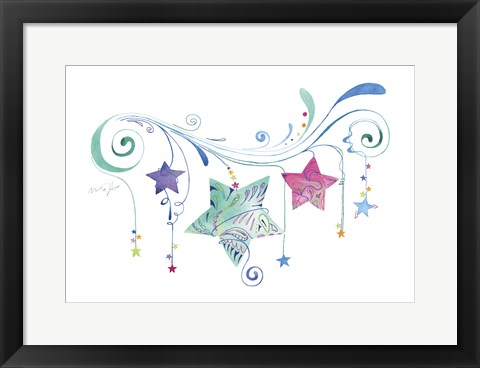 Framed Jane Stars Print