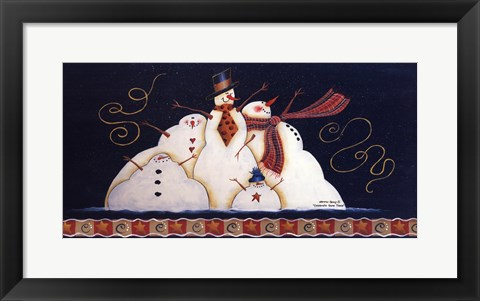 Framed Celebrate Snow Times Print