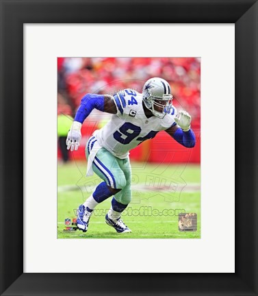 Framed DeMarcus Ware 2013 Running Action Print