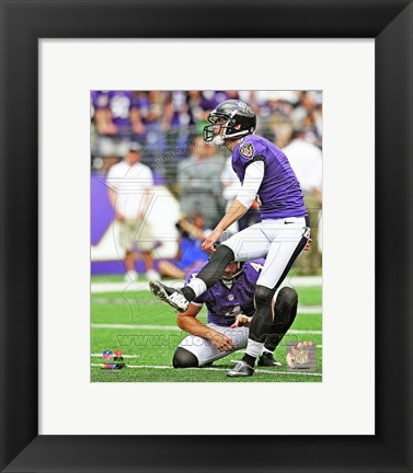 Framed Justin Tucker in action 2013 Print