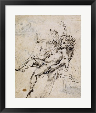 Framed Studies of the Madonna and Child Print