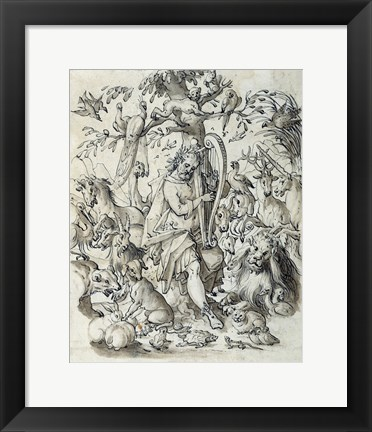 Framed Orpheus Charming the Animals Print