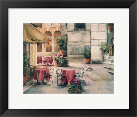 Framed Plaza Cafe Print