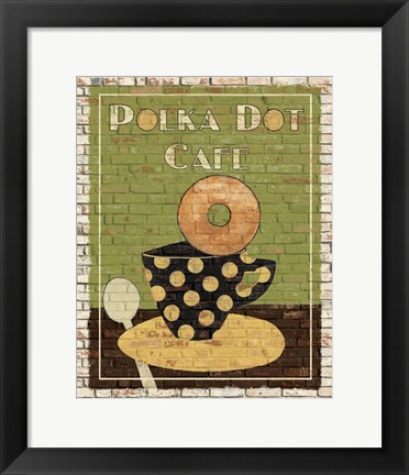 Framed Polka Dot Cafe Print