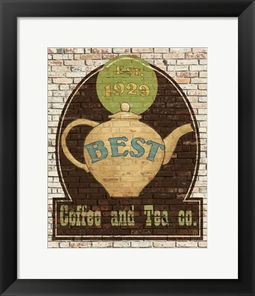 Framed Best Coffee and Tea Print