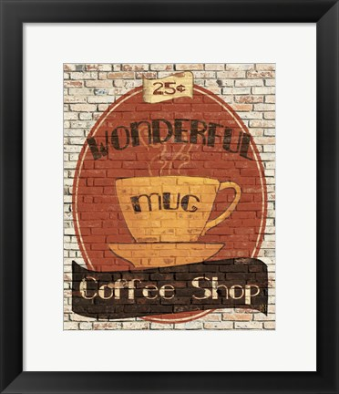 Framed Wonderful Coffee Shop Print