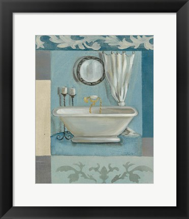 Framed Antique Bath II Print
