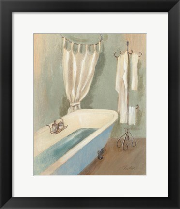 Framed Steam Bath III Print
