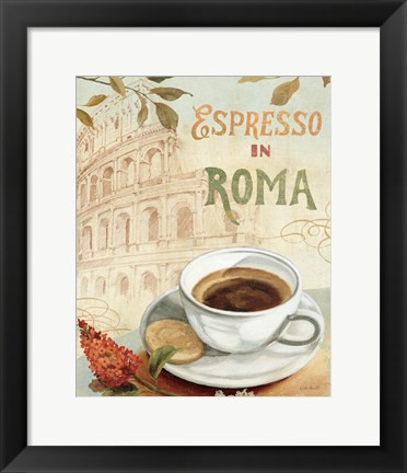 Framed Cafe in Europe III Print