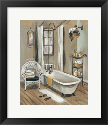 Framed French Bath II Print