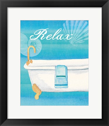 Framed Seashells Spa II Print