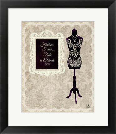 Framed Chic Dress Form II Print