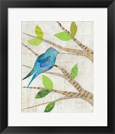 Framed Birds in Spring I Print
