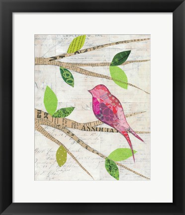 Framed Birds in Spring IV Print