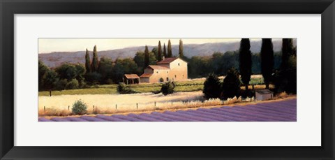 Framed Lavender Fields Panel II Print