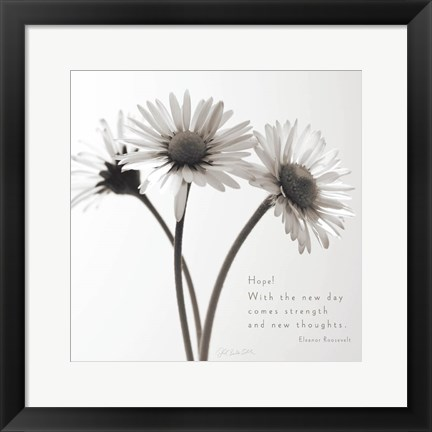Framed Daisy Hope Print