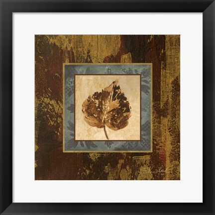 Framed Autumn Leaf Square I Print