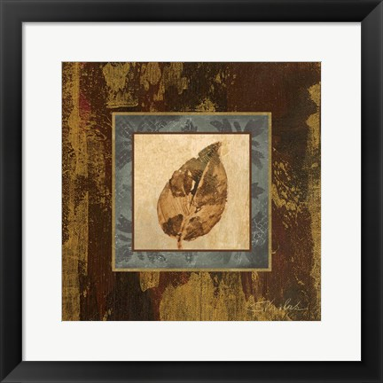 Framed Autumn Leaf Square III Print