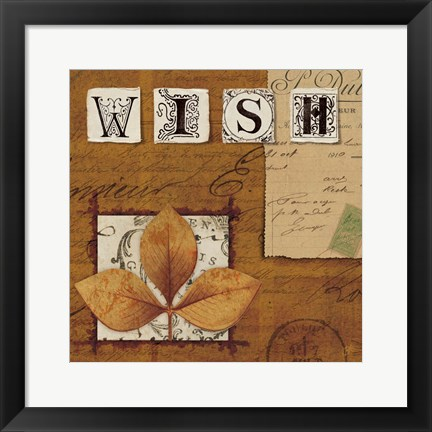 Framed Natures Journal - Wish Print