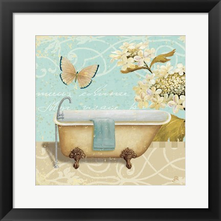 Framed Light Breeze Bath II Print