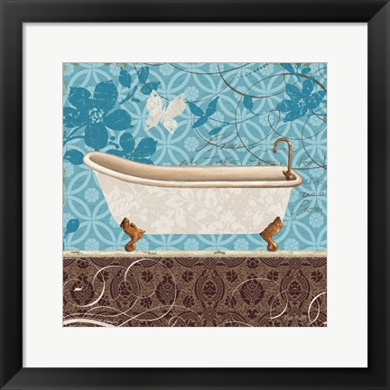 Framed Eco Motif Bath I Print