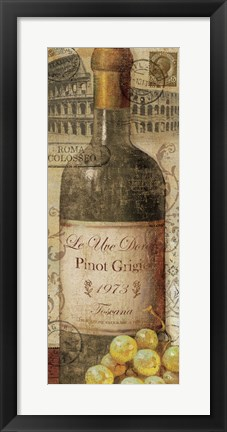 Framed European Wines I Print