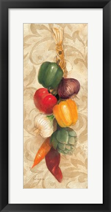 Framed Mixed Vegetables I Print