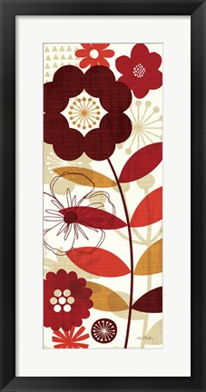 Framed Floral Pop I Print