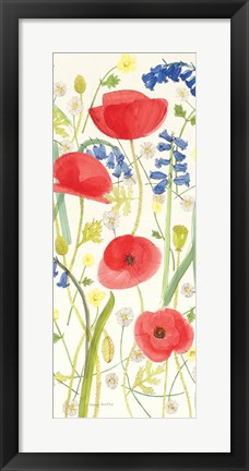Framed Meadow Poppies III Print