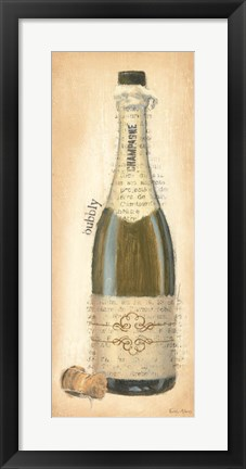 Framed Bubbly Champagne Bottle Print