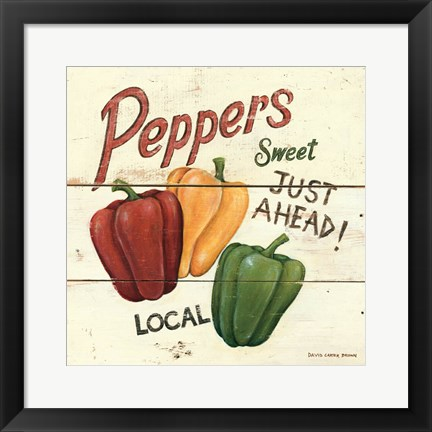 Framed Sweet Peppers Print