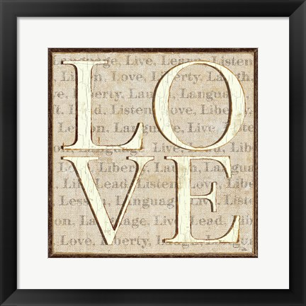 Framed L is for Love Print