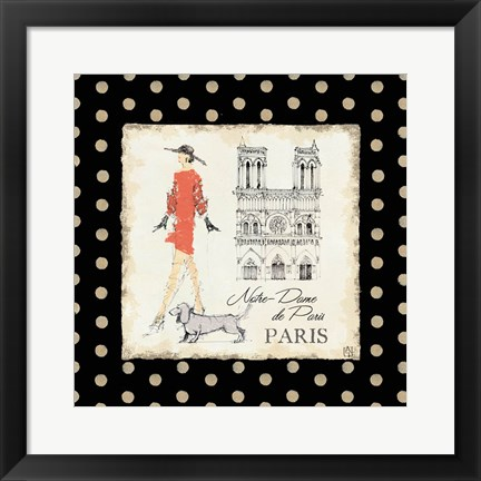 Framed Ladies in Paris IV Print